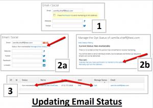 Changing Email Status
